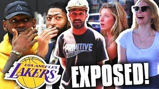 We EXPOSED Bandwagon Lakers Fans Before their Home Opener
