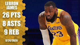 LeBron James scores 26 points, 9 rebounds for Lakers [GAME 4 HIGHLIGHTS] | 2020 NBA Playoffs