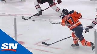Connor McDavid Snipes On The Power Play To Put Oilers Up Early