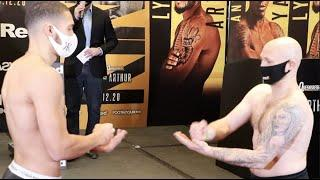 BIZARRE! - KAROL ITAUMA & LEWIS VAN POETSCH PLAY ROCK PAPER SCISSORS DURING HEAD-TO-HEAD @ WEIGH-IN