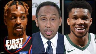 'Grow the hell up!' - Stephen A. on Dwight Howard taking issue with Giannis celebrating   First Take