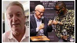 'WILL FURY v WILDER III END UP IN COURT? - I DON'T KNOW!' - FRANK WARREN ON SHELLY FINKEL'S COMMENTS