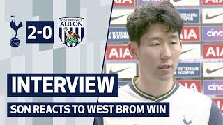 INTERVIEW | Spurs 2-0 West Brom | Son reacts to West Brom win