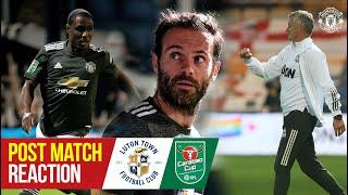 Solskjaer, Mata & Ighalo happy to progress in Carabao Cup | Luton Town 0-3 Manchester United