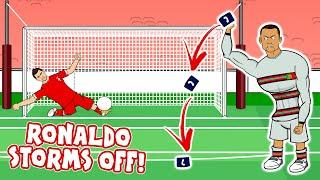 RONALDO THROWS THE ARMBAND! (Serbia vs Portugal disallowed goal 2021 World Cup Qualifiers)