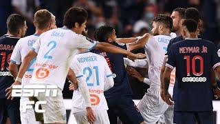 Neymar one of 5 RED CARDS in PSG's loss to Marseille during 'disgraceful brawl' | ESPN FC