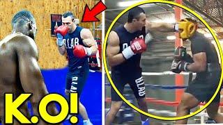 *LEAKED* KLITSCHKO SPARRING AJ JOSHUA DOUBLE IN NEW CAMP VIDEO FOOTAGE *MEGA BOXING FIGHT 2021*