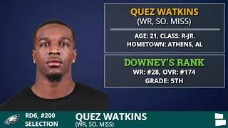Philadelphia Eagles Pick WR Quez Watkins from Southern Miss In 6th Round of 2020 NFL Draft