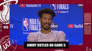 A tired Jimmy Butler reflects on his big triple-double in Game 5 vs. Lakers   2020 NBA Finals