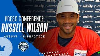 Russell Wilson 2020 Training Camp August 13th Practice Press Conference