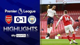 Raheem Sterling scores headed winner after TWO minutes! | Arsenal 0-1 Man City | EPL Highlights
