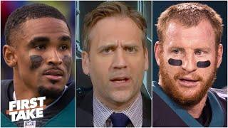 Should the Eagles bench Carson Wentz for Jalen Hurts vs. the Seahawks? First Take debates
