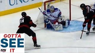GOTTA SEE IT: Slavin Goes Backdoor On Lundqvist For First Goal Of Stanley Cup Qualifiers