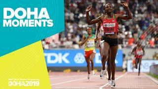 Hellen Obiri Sets New 5000m Championship Record | World Athletics Championships 2019 | Doha Moments