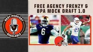 Free Agency Frenzy and Mock Draft 1.0 | Best Podcast Available