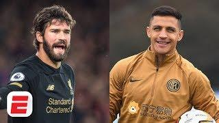 Liverpool's Alisson & Inter Milan's Alexis Sanchez show off home training regimens | Exploding Heads