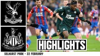 Defeat at Selhurst Park  Crystal Palace 1 Newcastle United 0: Brief Highlights