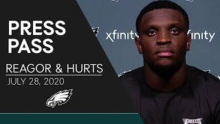 Jalen Reagor & Jalen Hurts Discuss their First NFL Training Camp | Eagles Press Pass