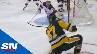 Sidney Crosby Finishes Off Great Passing Play With Goal