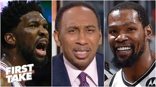 Stephen A.: Kevin Durant is more of an MVP than Joel Embiid! | First Take