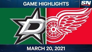 NHL Game Highlights | Stars vs. Red Wings – Mar. 20, 2021