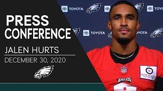 Jalen Hurts Looking to End 2020 Season on a High Note | Eagles Press Conference
