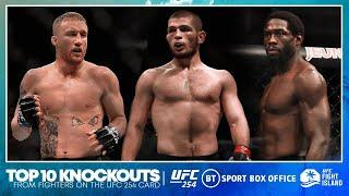 Top 10 knockouts from fighters on UFC 254 | Khabib, Gaethje, Whittaker, Cannonier, Harris, Ankalaev