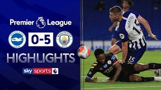 Sterling scores bizarre goal to complete his hat-trick | Brighton 0-5 Man City | EPL Highlights