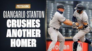 Giancarlo Stanton GOES DEEP again for Yankees in ALDS vs. Rays!