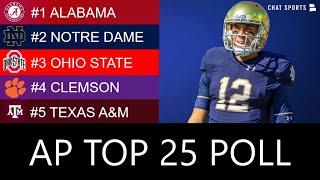AP Poll: Top 25 College Football Rankings - New #1 Team & 2020 Heisman Trophy Race Ft. Justin Fields