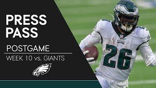 Eagles Players React to the Loss to the Giants | Eagles Press Pass
