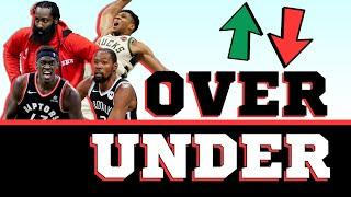 Is Giannis Antetokounmpo Going To Win A 3rd straight MVP Award? | Over/Under NBA Edition
