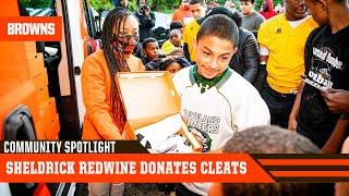 Sheldrick Redwine Donates Cleats to Cleveland Youth Football Program | Cleveland Browns