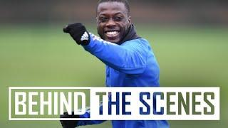 Shooting drills plus a run and finish from Reiss!   Behind the scenes at Arsenal Training Centre