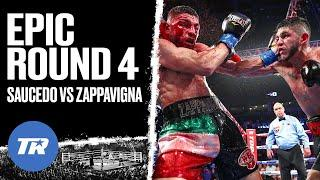 Saucedo & Zappavigna throw down in epic Round 4 | GREAT ROUND IN BOXING | ROUND OF THE YEAR NOMINEE