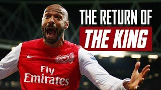The story of Thierry Henry's emotional return to Arsenal in 2012