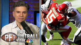 Raiders deciding not to blitz caused problems for Chiefs | Pro Football Talk | NBC Sports