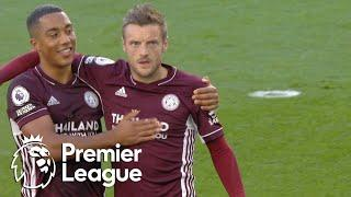 Jamie Vardy powers home penalty to equalize for Foxes v. Man City | Premier League | NBC Sports
