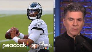 Why Eagles will start QB Jalen Hurts over Carson Wentz vs. Saints | Pro Football Talk | NBC Sports