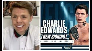 CHARLIE EDWARDS REACTS TO SIGNING WITH FRANK WARREN & TALKS BEING 'TAKEN FOR GRANTED' BY EDDIE HEARN