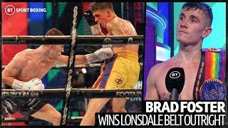 """""""I want to go out for a dance and a boogie!"""" Brad Foster first words after winning Lonsdale belt"""