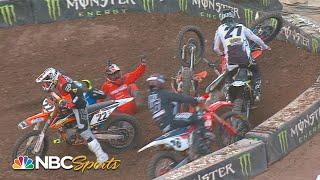 Top crashes from Supercross Round 15 in Salt Lake City | Motorsports on NBC