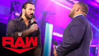 """Drew McIntyre drops MVP with a Claymore on """"The VIP Lounge"""": Raw, May 25, 2020"""
