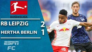Hertha Berlin fail to win again as RB Leipzig hammers home a 2-1 win | ESPN FC Bundesliga Highlights