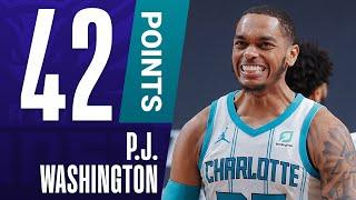 CAREER-HIGH 42 PTS For P.J. Washington & A CLUTCH Late Three In The Hornets Thrilling Win!