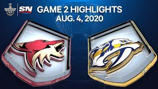 NHL Highlights | Coyotes vs. Predators, Game 2 – Aug. 4, 2020