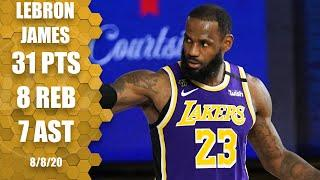 LeBron James highlights vs. Pacers: 31 points, 7 assists | 2019-20 NBA Highlights