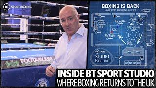 The Blueprint: Inside the BT Sport studio where boxing will return for the first time in 118 days
