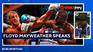 Floyd Mayweather: 'His goal was to survive' [Mayweather vs Paul Press Conference ]| CBS Sports HQ