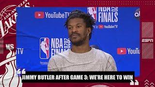 Jimmy Butler after 40-point triple-double: It's all about winning for the Heat | 2020 NBA Finals